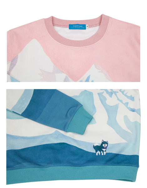 Casual sweatshirt - Mountains,sweatshirt | Women fashio shop|  Flamingolandia.online