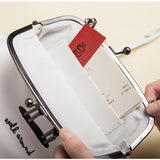 PU leather crossbody bag with metal hasp - Walk around... - Flamingolandia.online