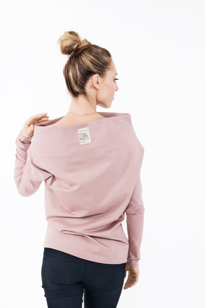 Dusty rose open shoulders blouse LeMuse CANDY,Sweater | Women fashio shop|  Flamingolandia.online