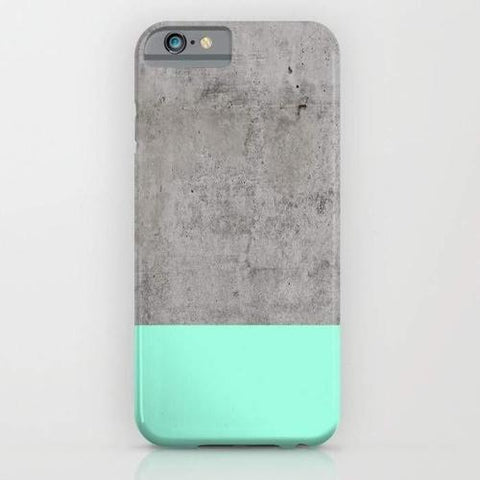 Sea on Concrete Mobile Cover - Minimal life - Flamingolandia.online