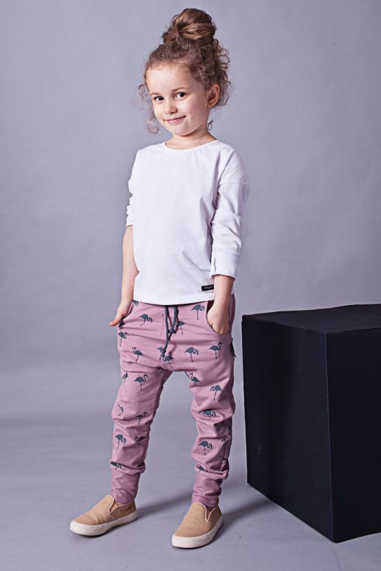 Kids pants with pockets - Flamingo family! | Flamingolandia