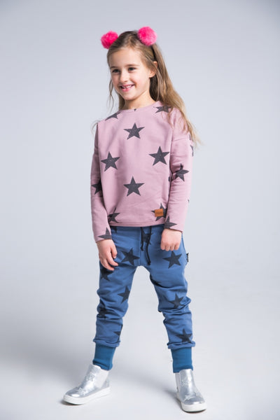 Kids navy cotton pants with pockets - STARS!,kids pants | Women fashio shop|  Flamingolandia.online