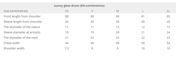 Sunny glow dress - light cacao colordress - Flamingolandia.online
