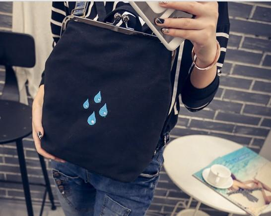 Super cute Canvas summer bagpack -   Drops! - Flamingolandia.online