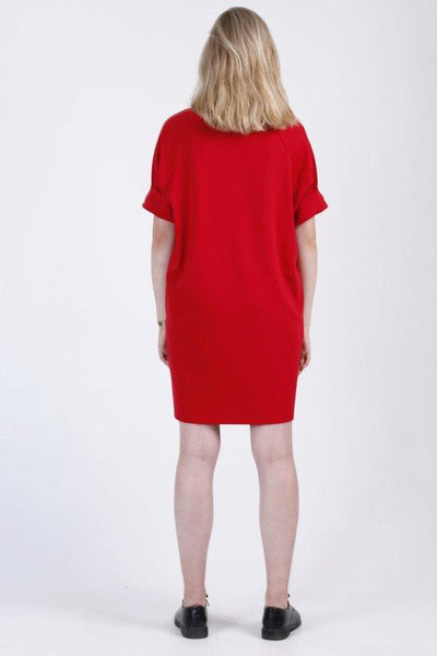 T-shirt bright red mini tunic dress |  Whoosh | Flamingolandia