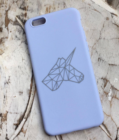 UNICO Mobile Cover - Blue sky & Silver Unicorn - Flamingolandia.online