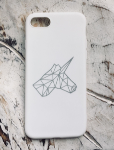 UNICO Mobile Cover - White & Silver - Flamingolandia.online