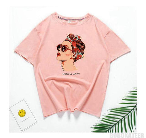 Vogue T-shirt  - Looking up | 9 colors,T-shirt | Women fashio shop|  Flamingolandia.online