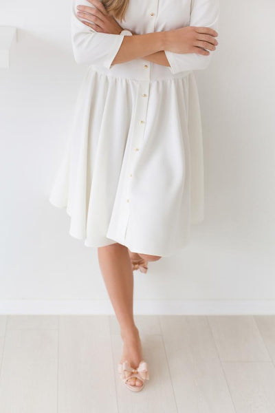 Water drop dress - warm white color,dress | Women fashio shop|  Flamingolandia.online