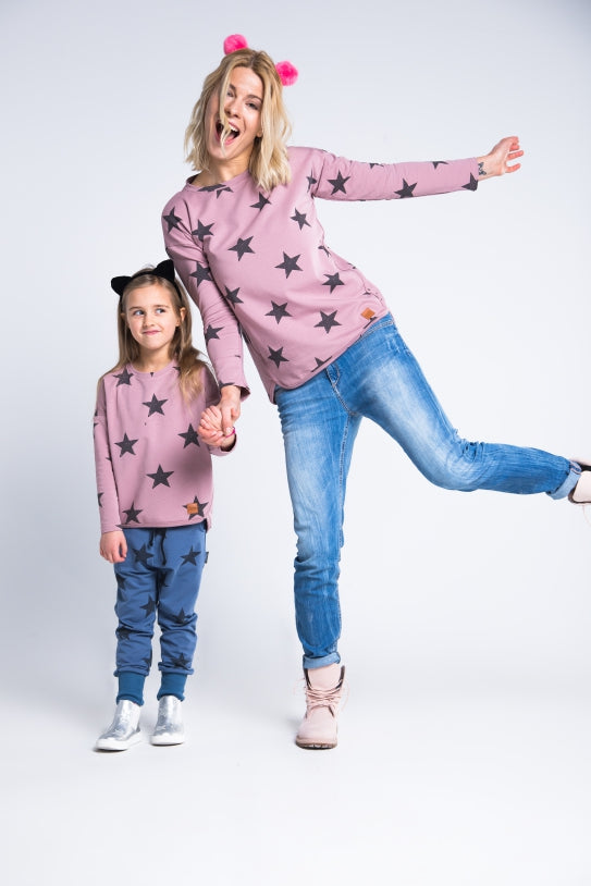 Women top- Pink Stars!,sweatshirt | Women fashio shop|  Flamingolandia.online