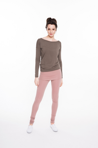 Dusty rose Yoga trousers LeMuse CANDY,trousers | Women fashio shop|  Flamingolandia.online
