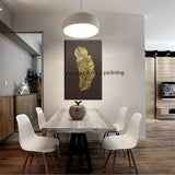 Artist Hand-painted Abstract on canvas, golden feather Oil Painting high quality.   30 different variants