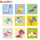 20x20cm , Frame Animals DIY Painting By Numbers For Kids