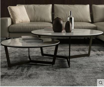 Marble round coffee table modern minimalist round coffee table.  9 different options