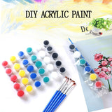 6/8 Colors Acrylic Paint Set For Paint By Numbers For Kids