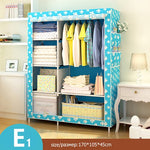 Minimalist Modern Reinforced Large Wardrobe DIY Non-woven Foldable Portable Clothing Storage Cabinet Dustproof Cloth Closet