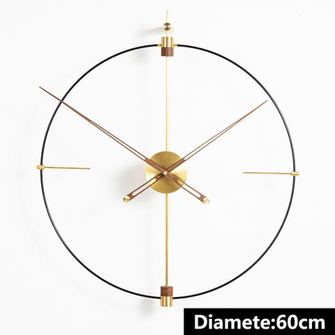Luxury Extra Large Metal Wall Clock Modern Design Minimalist Style