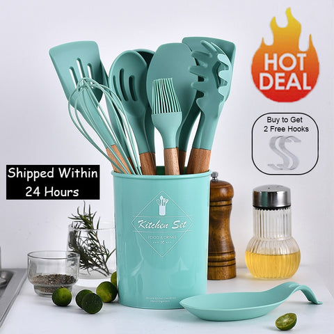 9/10/12pcs Cooking Tools Set Premium Silicone Kitchen Cooking Utensils set