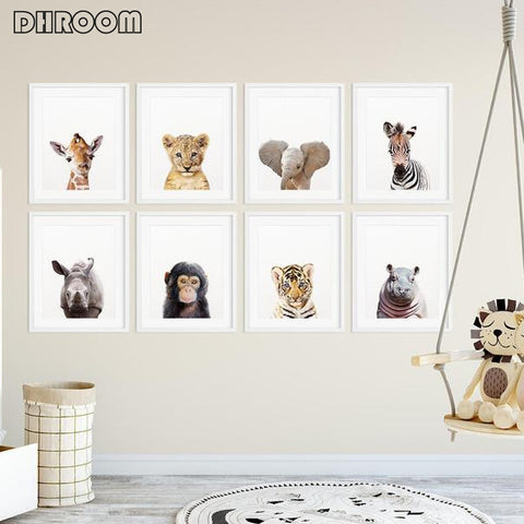 Modern Animal Painting Nordic Kid Bedroom Decoration Picture.   48 different pictures