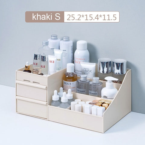 2020New Large Capacity Cosmetic Storage Box Makeup Drawer Organizer.   4 sizes and 3 colors.