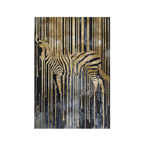 Abstract Posters and Prints Zebra Gold and Black Art Canvas Painting Wall Picture , 12 options.