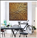 New creation abstract black and gold combination of hand-painted oil paintings                    modern art decoration of hotels have the hall