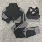 Seamless  Women Yoga Sets Female Sport Gym Suit Long Sleeve yoga clothing.    5 star rating