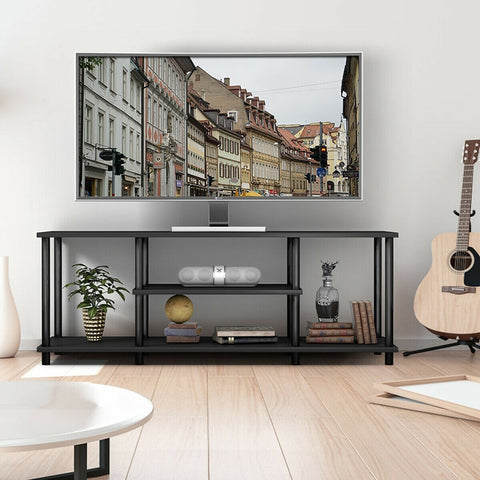 3-Tier TV Stand Entertainment Media Center Console Shelf.  Comes in Black and Brown.