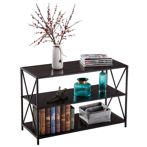 Console Table Black Fashion.   Makes a great t.v. stand.