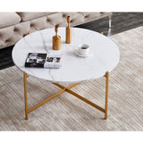 Modern Nesting Coffee Table Marble Stainless Steel Durable.  Several colors.