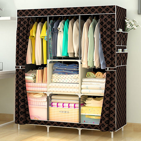 Multi-purpose Non-woven waterproof cloth wardrobe fabric closet portable folding.