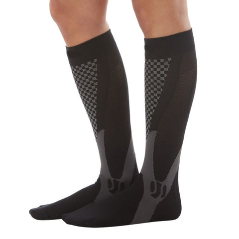 Men Women Leg Support Stretch Compression Socks Below Knee Socks