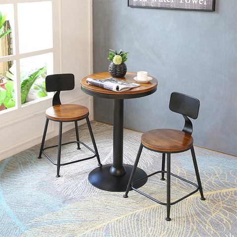 Modern Simple Bar Chair and Table and Iron Art Coffee Shop Luxurious Style.  16  Additional options for table and chairs.