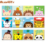 Frame Cute Animals DIY Painting By Numbers Art Picture for Kids  23 options