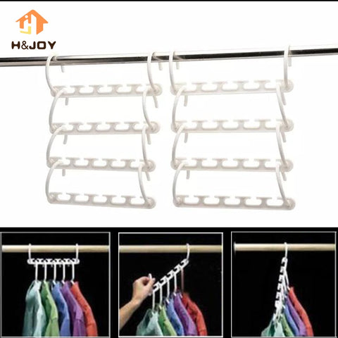 8 Pcs Wonder Hanger for Clothes Hangers Space Saver Wardrobes.