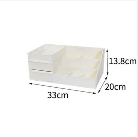 Plastic Makeup Organizer Two-Layers cosmetic organizer.     4 variants
