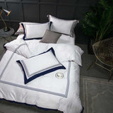 5-star Hotel White Luxury 100% Egyptian Cotton Bedding Sets Full Queen King Size. Cover Bed/Flat Sheet Fitted Sheet set.  11 different color combinations