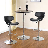 New 1 Pair High Quality PU Leather Butterfly Backrest Chair Bar stool