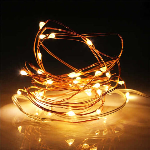 Waterproof Copper Wire LED String Lamp Fairy lights 2m/5m Length for indoor Decorations