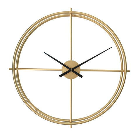 Vintage Large Decorative Wall Clock.  Comes in black or Gold and. several sizes.