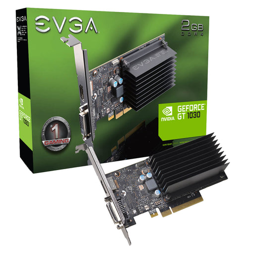 EVGA 02G-P4-6232-KR GeForce GT1030, 2GB SDDR4, Passive, Low Profile - We Love tec