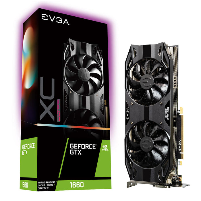 EVGA 06G-P4-1167-KR GeForce GTX1660 XC ULTRA GAMING, 6GB GDDR5, Dual HDB Fan - We Love tec
