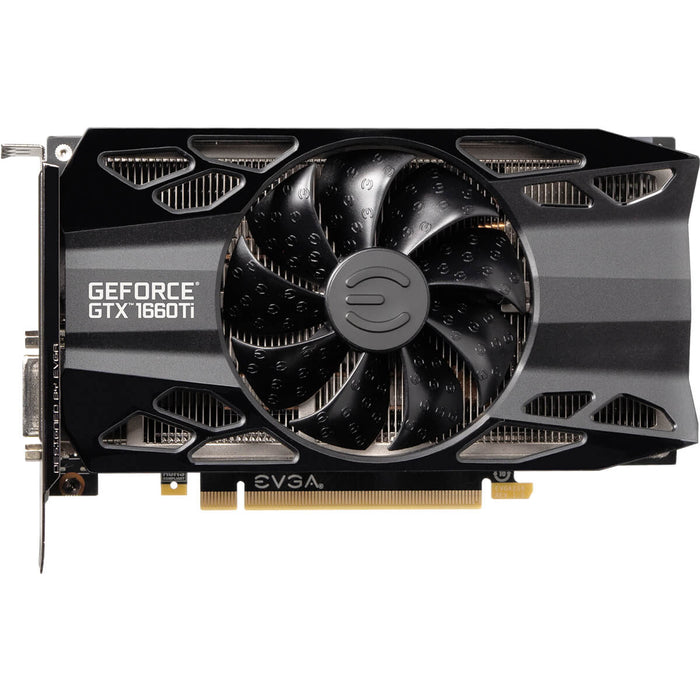 EVGA 06G-P4-1261-KR GeForce GTX1660 Ti XC BLACK GAMING, 6GB GDDR6, HDB Fan - We Love tec