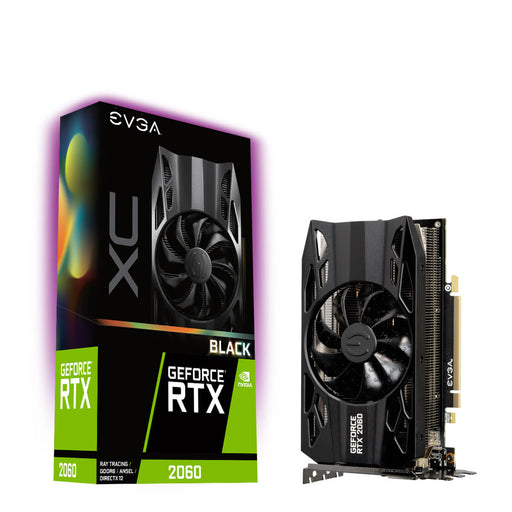 EVGA 06G-P4-2061-KR GeForce RTX2060 XC BLACK GAMING, 6GB GDDR6, HDB Fan - We Love tec