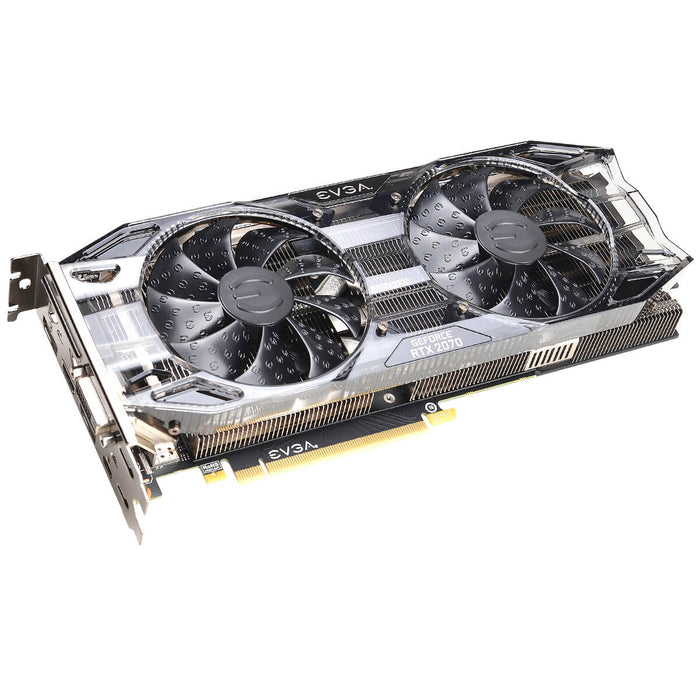 EVGA 08G-P4-1071-KR GeForce RTX2070 BLACK GAMING, 8GB GDDR6, Dual HDB Fans - We Love tec