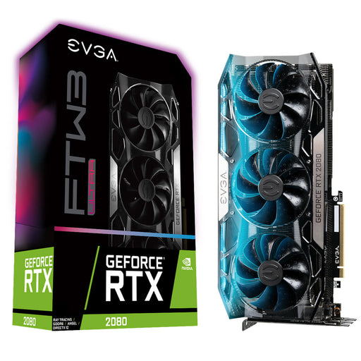 EVGA 08G-P4-2287-KR GeForce RTX2080 FTW3 ULTRA GAMING, 8GB GDDR6, iCX2 Technology, RGB LED, Metal Backplate - We Love tec