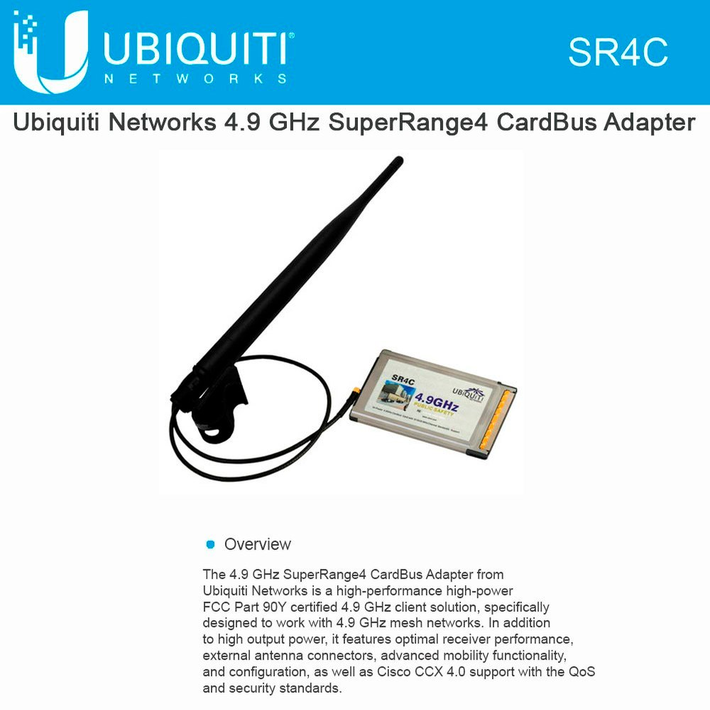 Ubiquiti SR4C 4.9GHz SuperRange4 1x1 PCMCIA - We Love tec