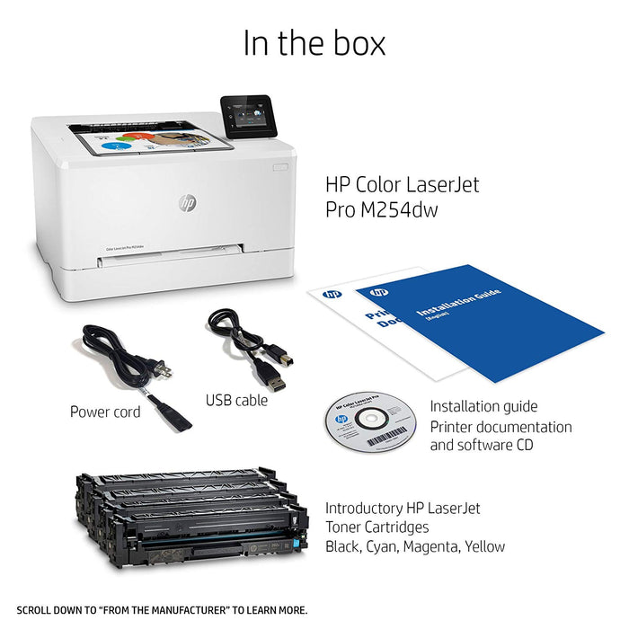 HP Color LaserJet Pro M254dw, T6B60A#BGJ - We Love tec