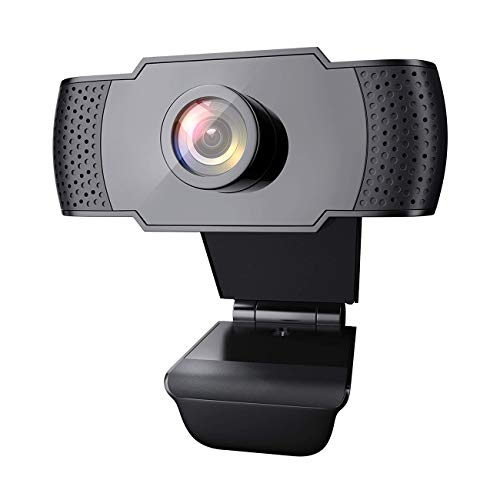 WE LOVE TEC Webcam with Microphone, 1080P HD, Plug & Play, for Video Conferencing, Recording, and Streaming, USB Computer Web Cam, Laptop, Desktop, Gaming PC, Mac, Skype, YouTube, Zoom, Facetime
