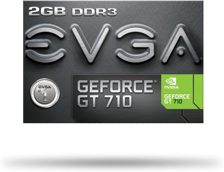 EVGA 02G-P3-2713-KR Graphic Card GT 710 2GB DDR3 64bit Single Slot, Low Profile